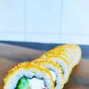 Жареный ролл с лососем Dan San